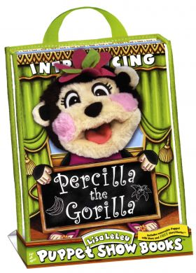 Percilla the Gorilla Puppet Show Book Tote Set